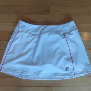 Fila White/Red Tennis Skorts